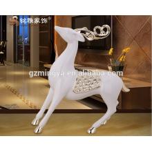 China-Lieferant Hausdekor Gartendekoration Kunst und Handwerk Harz Hirsche Tierfigur