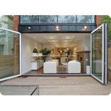 Двойные стеклянные алюминиевые двери с двойной открываемостью