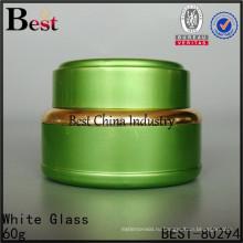 зеленый алюминиевых банок, 60г красочные алюминиевый опарник, косметический контейнер оптом , 2 образец бесплатно , в Китае