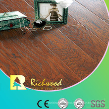 Commercial 12.3mm Embossed Hickory Waxed Edged Lamiante Flooring