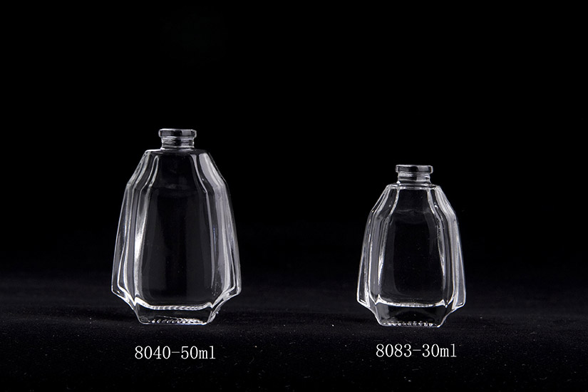 double wall glass perfume bottle