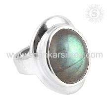 Scrumptious Labradorite Gemstone anillo de plata al por mayor 925 joyas de plata esterlina joyas de plata artesanal de la India