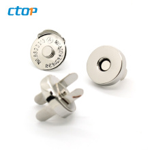 Custom High Quality Metal Button Magnetic Bag Parts Accessories Fashion Handbag Magnet Button