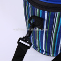 Reusable Hot Sale Collapsible Polyester Insulated Striped Tiffin Lunch Box Tote Cooler Bag