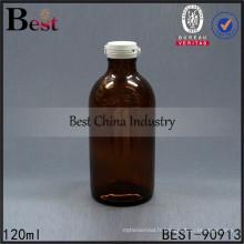 flacon de liquide de verre ambre pharmaceutique 4oz bouteilles de médecine 120ml, 1-2 échantillons gratuits