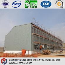 Peb Steel Structure High Rise Workshop Cobertizo con grúa