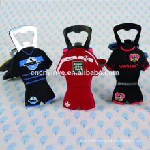 Promotional PVC beer bottle opener/soft pvc bottle opener 3D rubber magnetic bottle opener