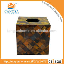 Trade Assurance Natürliche Handwerk Pen Shell Square Tissue Box Holder
