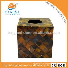Trade Assurance Natural Craft Pen Shell Sac à dos en tissu carré