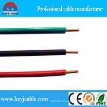 Greeb Blue Red PVC Aislamiento, Conductor de cobre Cable simple