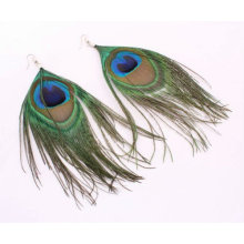 Wholesale Natural Peacock Feather Earrings Jewelry FEA09