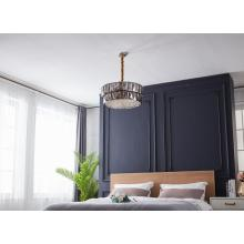Lustre de cristal moderno e luxuoso para decoração de quarto