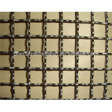 Stainless steel/steel crimped wire mesh