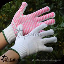 SRSafety 10G String с трикотажным покрытием с пвх-пунктирной хлопчатобумажной перчаткой