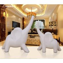 Хорошее состояние домашнего декора ремесло многосмолы животных статуэтка белый слон статуи для гостиницы
