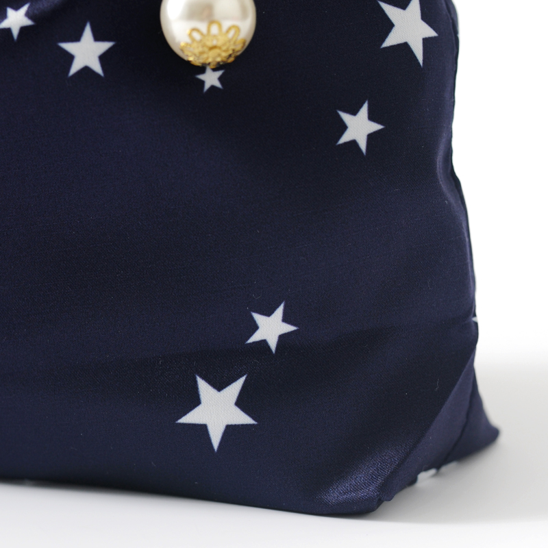 Star Printing Satin Bag