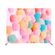 8ft High Quality Portable Straight Tension Fabric Custom Photobooth Backdrop Stand Trade Show Wall