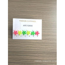 Set Colorful Star Earrings Fashion Jewelry