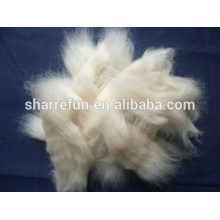 Schafwolle Open Tops Weiß 18.5mic / 44mm für das Wollenspinnen