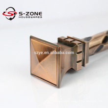 Wrought iron curtain rods for house building