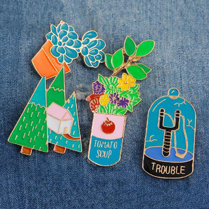 Flowers Metal Soft Enamel Lapel Pins