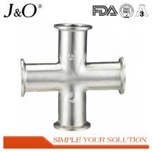 Acessórios sanitários de tubo de tubulação cruzada em aço inoxidável