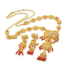 Joyería de imitación de lujo especial 24k oro Zircon Fashion Set 60268