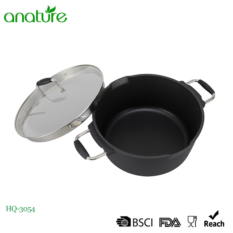 Die Casting Kitchen Aluminum Non Stick Sauce Pot