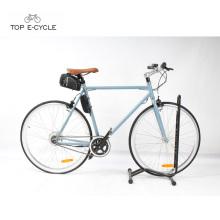 TOPO moda pedal assistência fixa engrenagem elétrica bicicleta única velocidade ebike