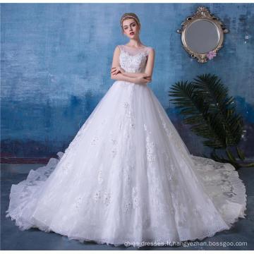 Robe de mariée dos nu perlée robe de mariée HA521