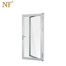 Interior aluminum frame glass double swing door