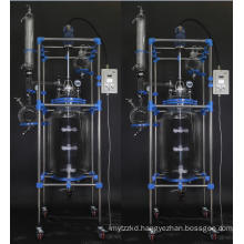 100L continuous Stirred tank Reactor Chemical Jacketed Glass Reactor in china