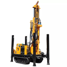 200m air compressor hard rock drilling rig with DTH hammer