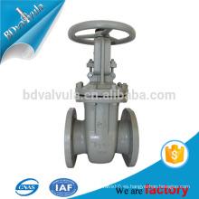GOST válvula de puerta de vástago ascendente válvula de puerta de acero fundido fabricante dn40-600