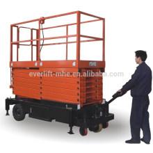 Scissor type elevating platform with puiling device (II)