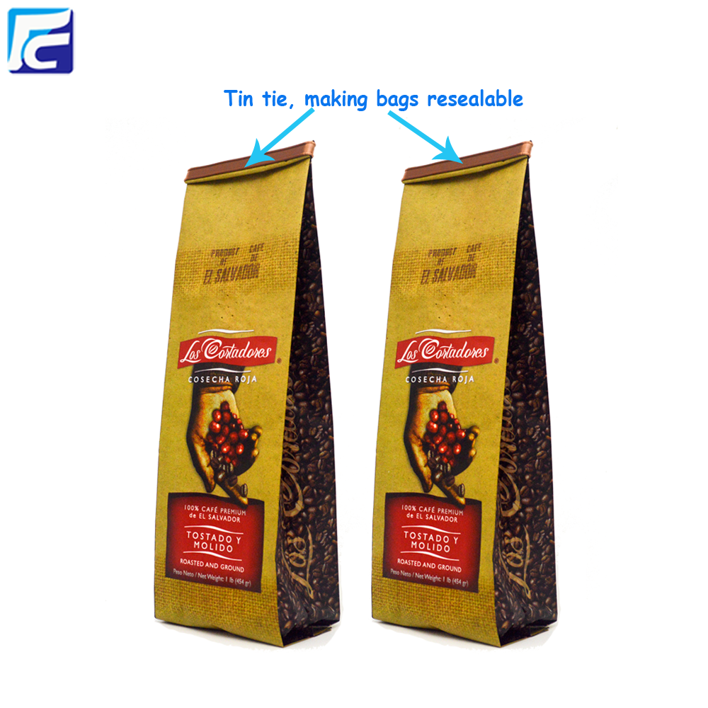 Side Gusset Coffee Bags With Foil Line