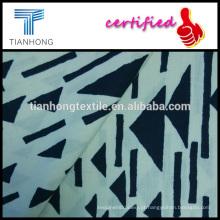 geométricas em todo creme 100 algodão suave tocar popeline weave de luz de fundo preto peso tela impressa para vestido de camisa