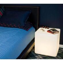 decoración de los muebles mordern bar interior led taburetes cuadrados flashes RGB Color cambiar LED cubo luz