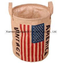 La aduana recicló el diseño natural superior maneja el saco del almacenaje del lavadero del yute