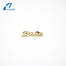 Customized Fashion Handbag Logo Metal Decorative Label