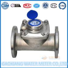 Dn100 Acero Inoxidable 304 Flange Medidor de agua de esfera seca