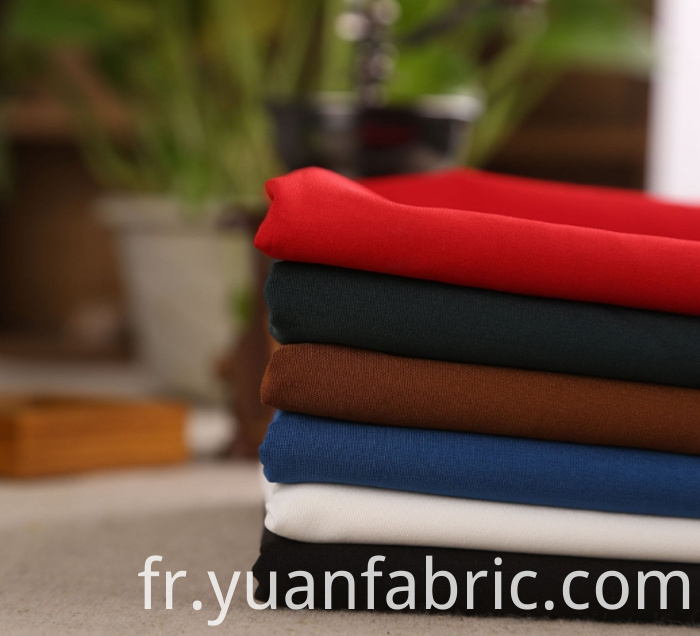 163wholesale Plain Dyed Polyester Spandex Stretch Woven Fabric
