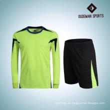 Uniforme largo del portero de las mangas del jersey de fútbol de encargo al por mayor de la fábrica