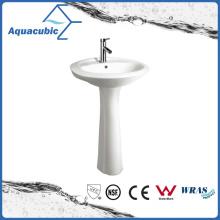 20′′-22′′ Bathroom Ceramic Pedestal Basin in White (ACB0014)