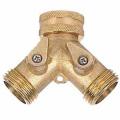 brass 2 way hose connector with valve gardening
