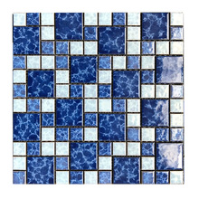 blue wave glass tile for swimming pool tile mosaic