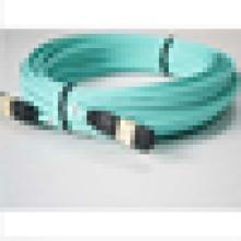 3Meter 8 Strand MTP MPO OM3 Fibra Óptica patch cabo cabo 10GB Aqua para QSFP + SR4