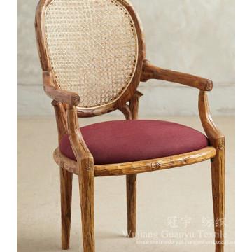 Couro 100% poliéster decorativo da tela da camurça para mobílias