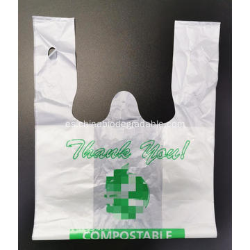 Bolsa de plástico compostada biodegradable a base de maicena