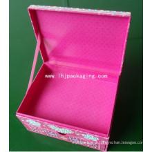 Alta qualidade clamshell gaveta embalagem caixa de papel cosmético com fita